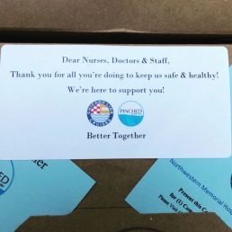 Thank you note to ER team Northwestern Memorial Hospital COVID-19