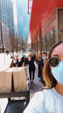 Chicago Line and Pinched deliver lunches Northwestern ER team COVID-19